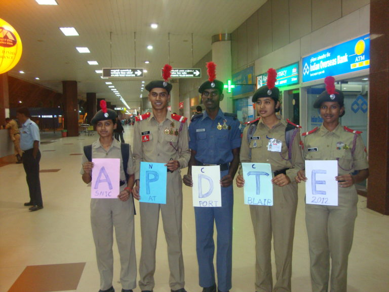 Chandana from 1st right at andaman airport these are 5 from ap
